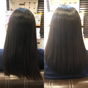 髪質改善ストレート(ビフォー アフター)